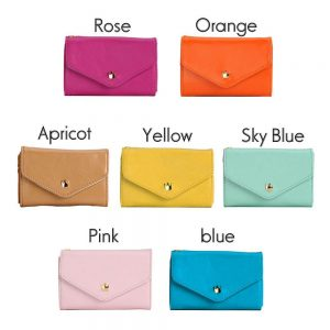 Pretty Fashion Women PU Leather Crown Button Wallet