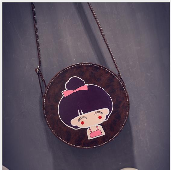 Lovely Cute China Doll Print Small Girl Shoulder Bag