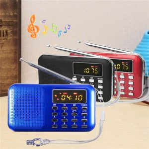 New Model Portable Stereo Radio Micro Card Slot Music Player