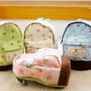 Cute Small Kids Coins Flower Print Zipper Pouch Bag
