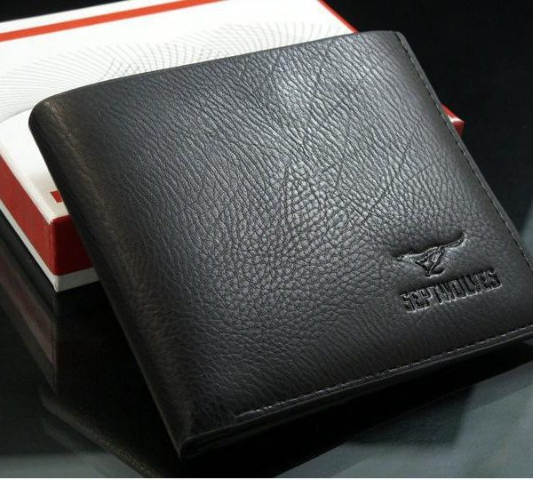 Casual Genuine Leather Bifold Card Pockets Men Wallet