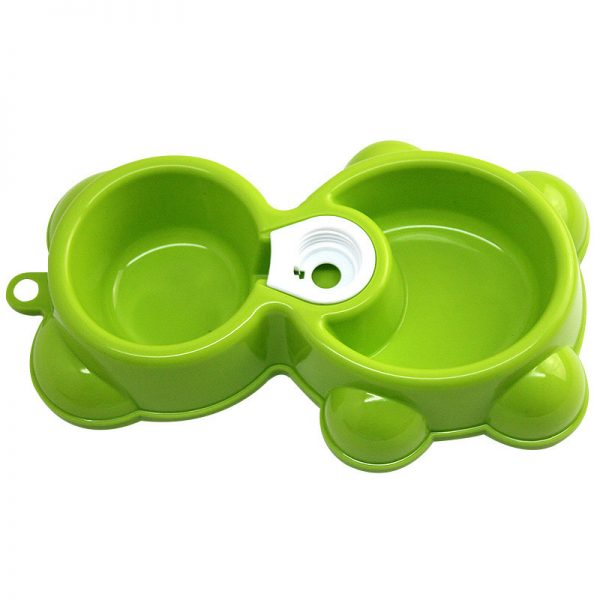 Pet Puppy Kitten Dog Cat Small Feeding Double Bowl