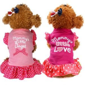 Lovely Small Puppy Kitten Dog Cat Cotton Dress Clothes
