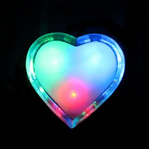 Beautiful Multi Colors Sensor Night Light Heart Shape
