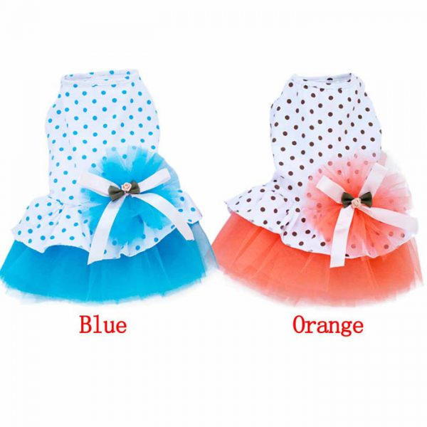 Elegant Small Female Pet Puppy Kitty Summer Dress Skirt