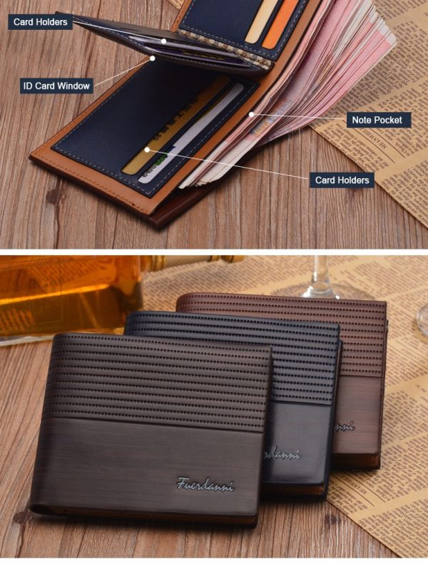 High Quality Fancy Multi Card Holder Genuine Leather Men Wallet