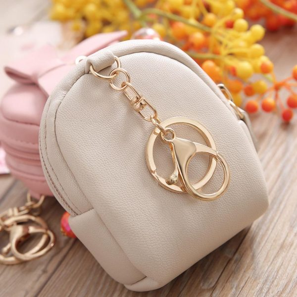 Pretty Small Coin Bag Front Bowknot PU Leather Girls Fashion