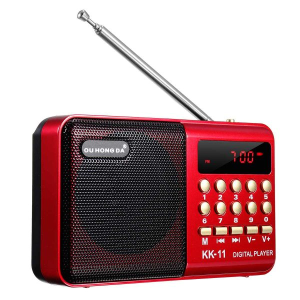Mini Portable Stereo Radio Micro Card Slot Music Player