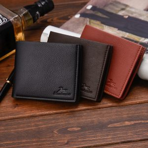 Casual PU Leather Bifold Card Pockets Men Wallet