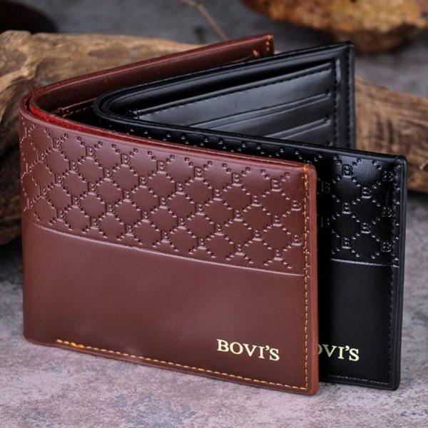 Stylish Pattern PU Leather Credit Card Bifold Men Wallet
