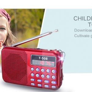 Small Portable Stereo Radio Micro Card Slot Music Player