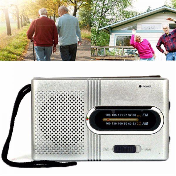 Small Portable FM AM Dual Band Telescopic Antenna Radio
