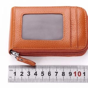 High Quality Genuine Leather Multi Card Holder Men Women Wallet