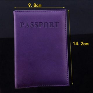 High Quality Passport Cover PU Leather Women Men Unisex