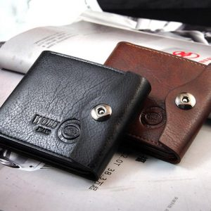 Genuine Leather Credit Cards Coin Pockets Men Wallet