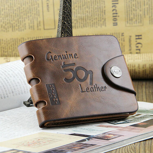 High Quality Western Style Multi Card Holder PU Leather Men Wallet