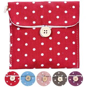 Small Handy Dots Cotton Napkin Pads Travel Bag