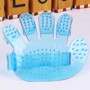 Small Plastic Pet Bath Brush Massage Finger Brush
