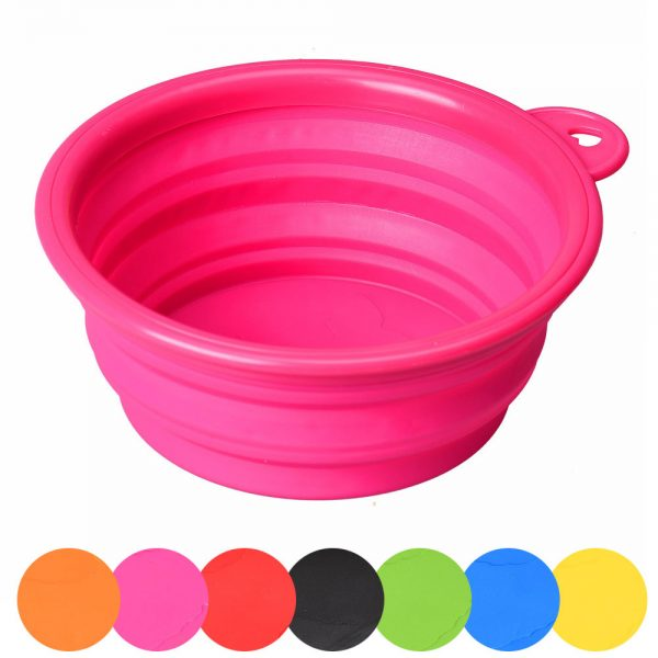 Travelling Compressible Silicone Pet Feeding Bowl