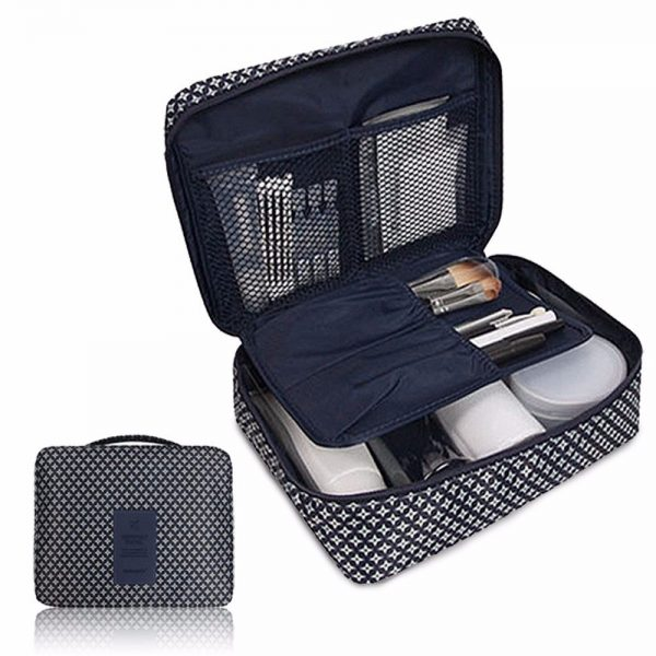 Travel Multi Compartment Cosmetic Toiletry Organizer