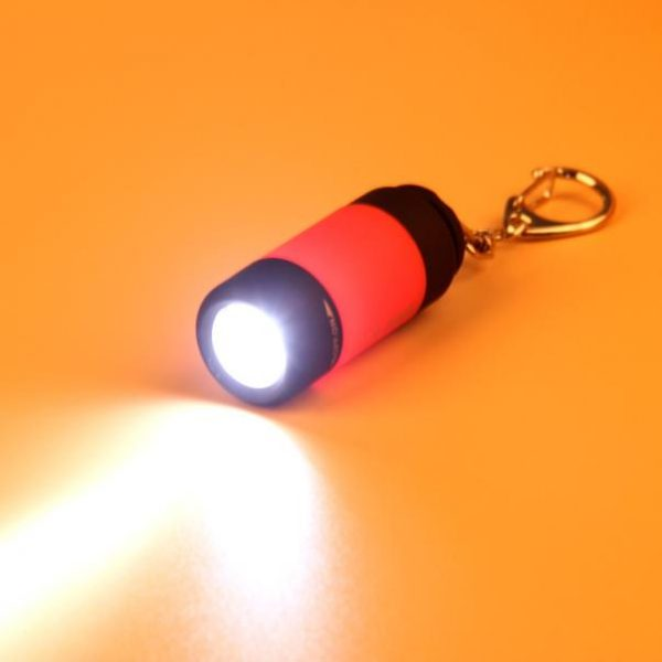Small Waterproof Rechargeable USB Flash Light Keychain