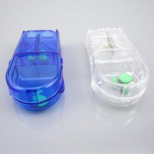 Medicine Pill Tablet Caplet Cutter Divider Storage Container