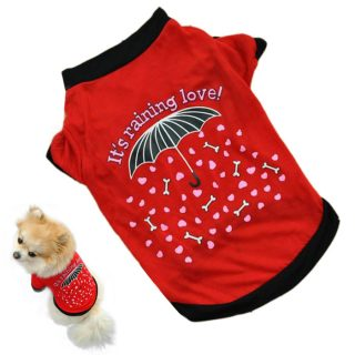 Cool Summer Small Red Pet Puppy Kitten Dog Cat TShirt