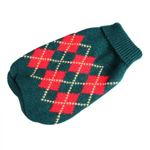 Classic Plaid Small Pet Puppy Kitten Dog Cat Winter Sweater