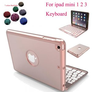 7 Backlight Bluetooth Keyboard Case IPad Mini 1 2 3 Aluminum Language Customize