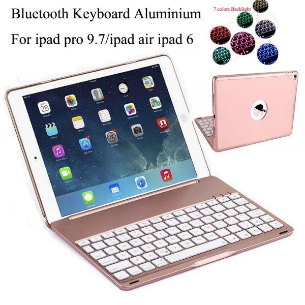 7 Colors BackLight Wireless Bluetooth Keyboard Case Apple iPad Air 2 / IPad PRO 9.7 Russian/Spanish Keyboard Customize