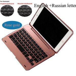 Wireless Bluetooth 3.0 Keyboard Case iPad Mini 4 Russian/English Customize