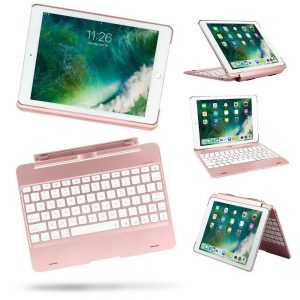 Detachable Ipad 9.7 5th 6th Air 1, 2 Pro 9.7 Case Backlit Light Keyboard Bluetooth 3.0
