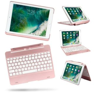 Detachable Ipad 9.7 5th 6th Air 1, 2 Pro 9.7 Case Backlit Light Keyboard Bluetooth 3.0