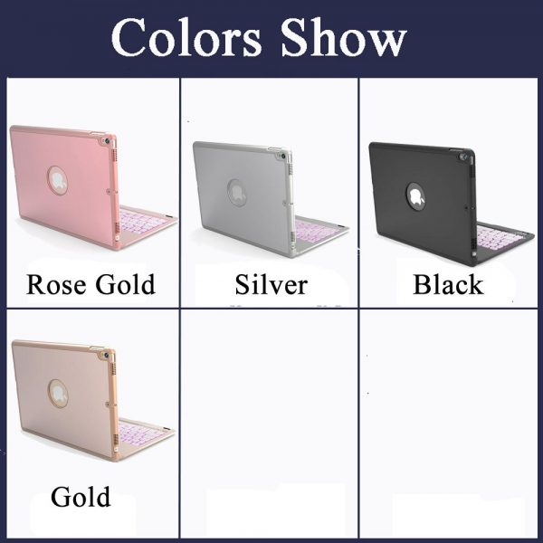 7 Colors BackLight Wireless Bluetooth Rotate Keyboard Case IPad 9.7 2017 2018 5 6 Air 1 2 Pro 9.7