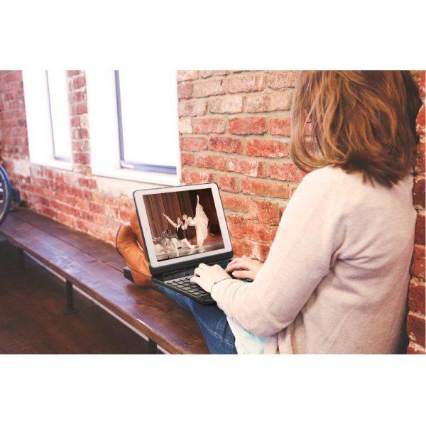 360 Degree Rotation Backlight Aluminum Bluetooth Wireless Keyboard Case iPad Pro10.5 A1701 A1709