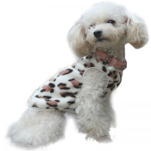 Warm Sweet Love Heart Leopard Print Dog Cat Pet Vest Clothes