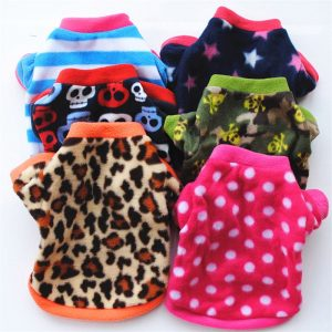 Print Pattern Soft Warm Small Dog Cat Pet Clothes