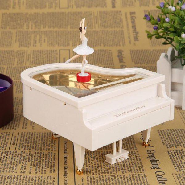 Ballerina Plastic Piano Music Box Gift Home Decor