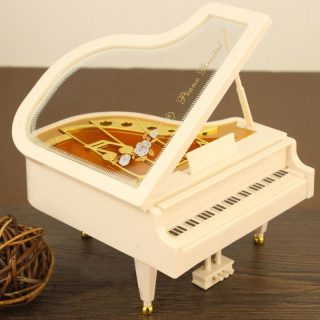 Mini Plastic Piano Model Music Box Gift Home Decor