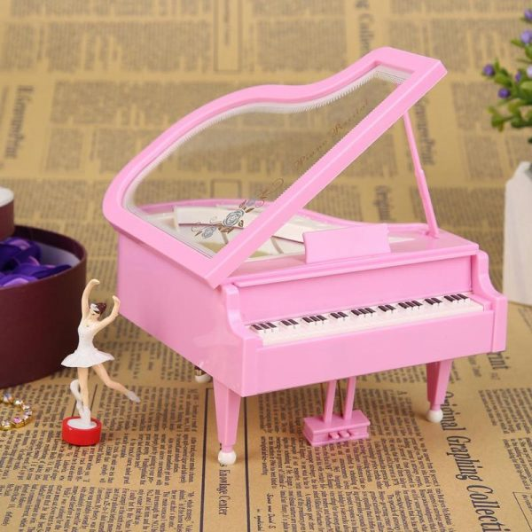 Three Styles Choice Piano Model Turn Around Ballerina Music Box
