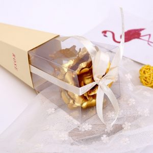 One Piece Golden Rose Foil Valentine Gift Display Home Decor