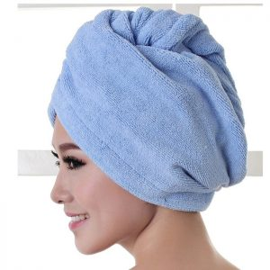 Microfiber Shower Bathroom Cap Water Absorbent Hair Dry