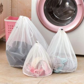 Big Capacity Mesh Bra Underwear Laundry Washing Bag Drawstring