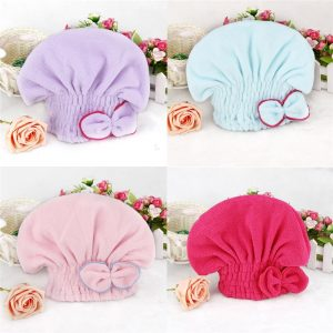 Hair Cover Dry Microfiber Material Shower Bathroom Accessory