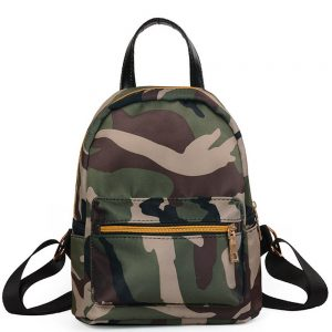 Unisex Women Men Kids Zipper Camouflage Backpack School Bag