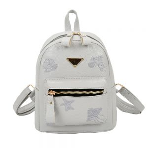 Small Cute PU Leather Women Girls School Bag Backpack