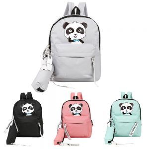 Zipper Teenage Students Girls School Cartoon Backpacks