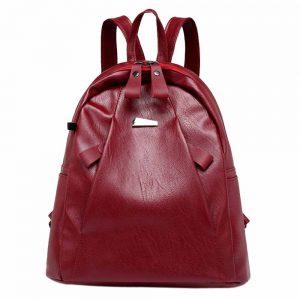 Casual Waterproof PU Leather Girls Teenager Bags Headset Travel Schoolbag