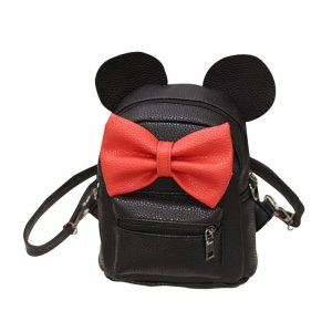 Mickey Mini Backpack Butterfly Knot Women Girls Shoulder Bag