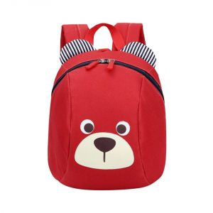 Cartoon Animal Face Kindergarten Backpacks Unisex Kids School Bag